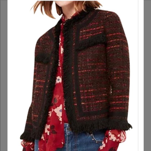 New Kate Spade tweed Jacket size 12